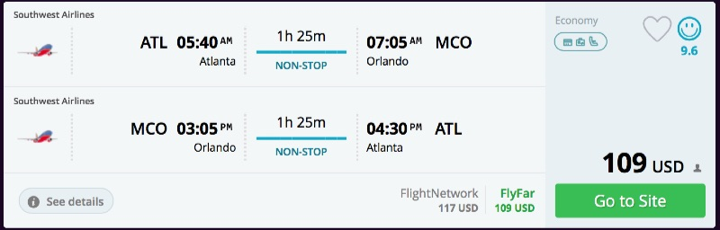 Atlanta to Orlando