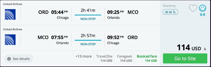 Chicago to Orlando