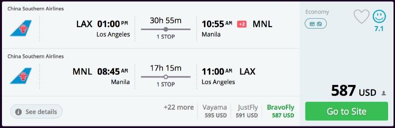 Los Angeles to Manila