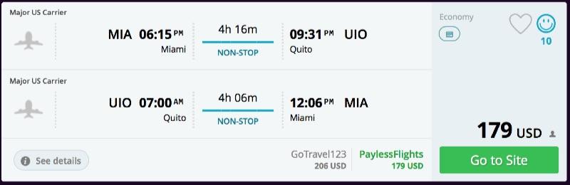 Miami to Quito