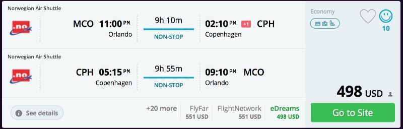 Orlando to Copenhagen