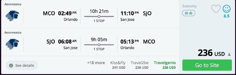 Orlando to San Jose