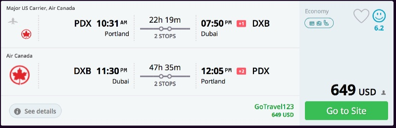 Portland_to_Dubai_flights