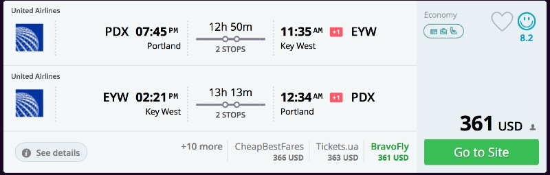 Portland_to_Key_West_flights_-_momondo