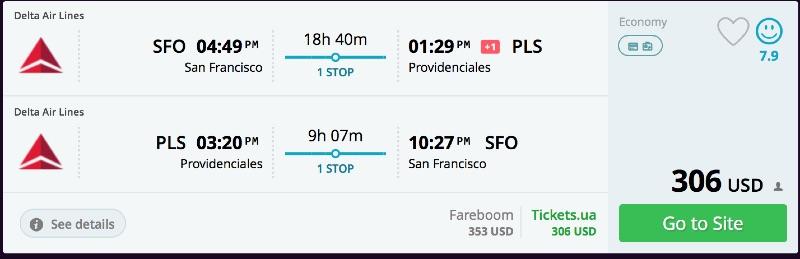 San Francisco to Providenciales