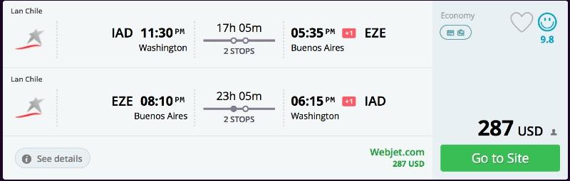 Washington to Buenos Aires