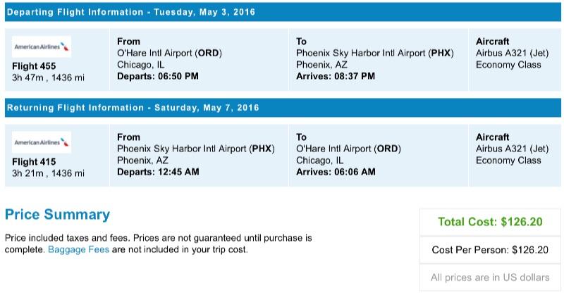 Chicago to Phoenix