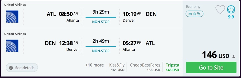 Atlanta to Denver