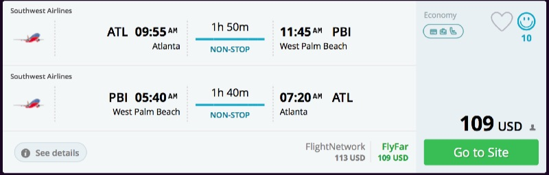 Atlanta to West Palm Beach