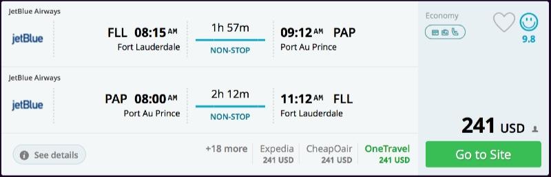 Miami to Haiti