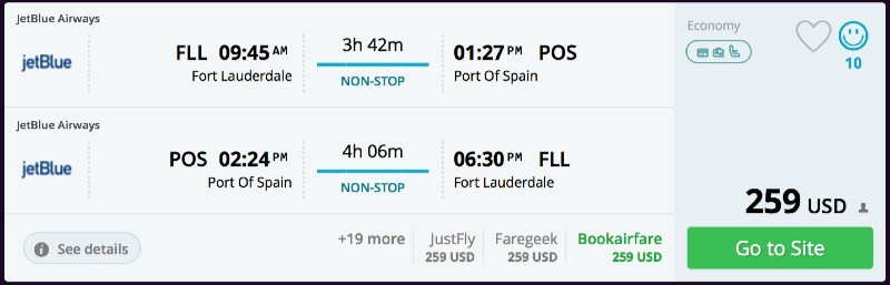 Fort_Lauderdale_to_Port_Of_Spain_flights_-_momondo