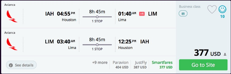 Houston_to_Lima_flights_business