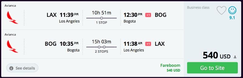 Los_Angeles_to_Bogota_flights_-_momondo