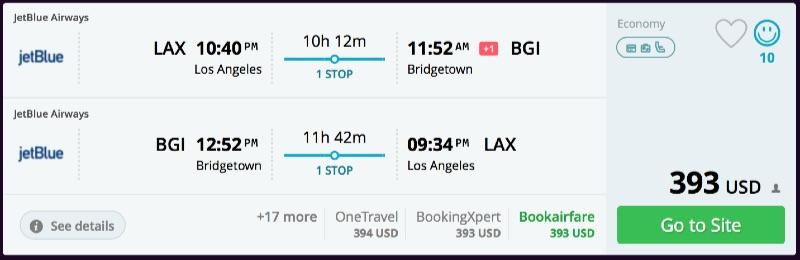 Los Angeles to Barbados