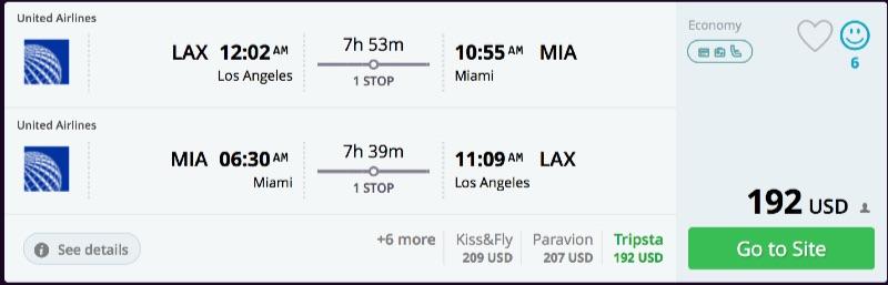 Los Angeles to Miami
