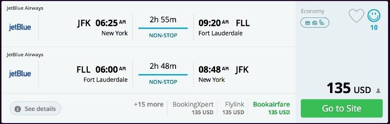 New York to Miami