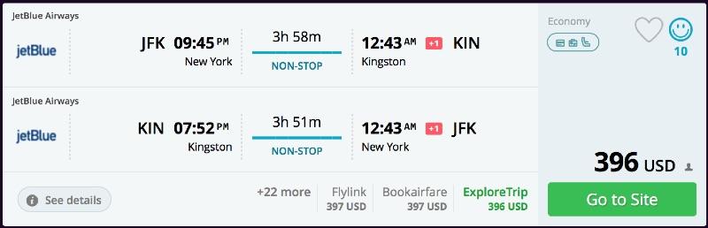 New York to Kingston