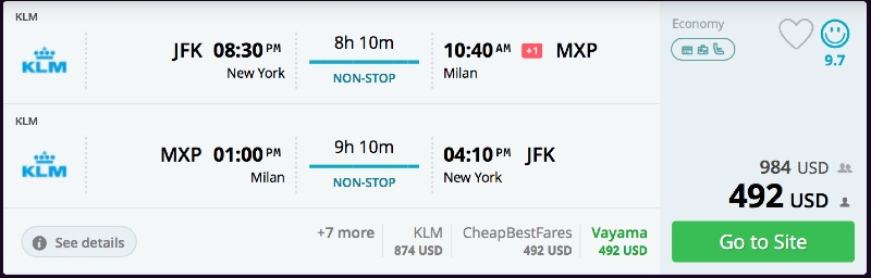 New_York_to_Milan_flights