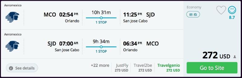 Orlando to San Jose Cabo