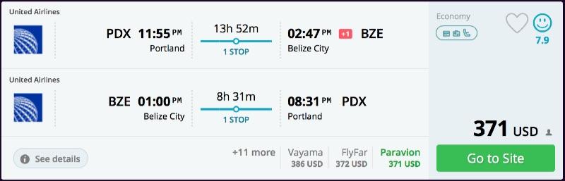 Portland to Belize