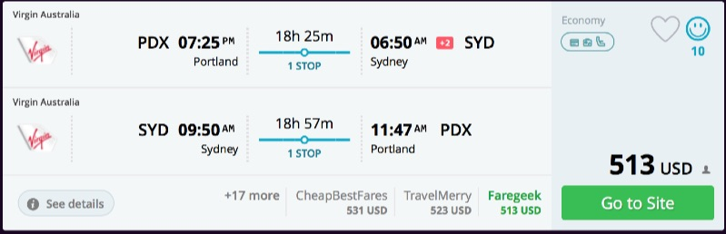 Portland to Sydney