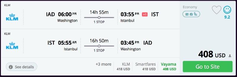 Washington to Istanbul