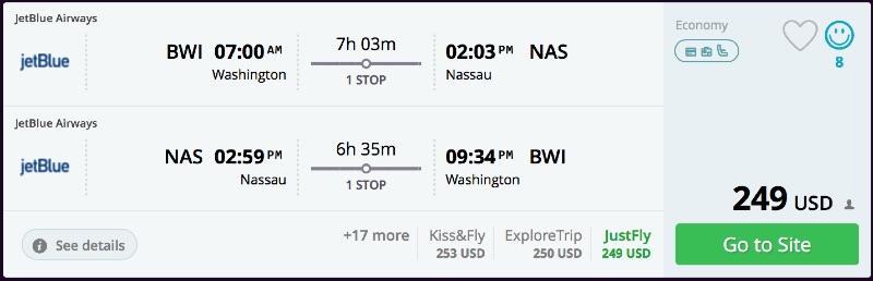 Washington to Nassau