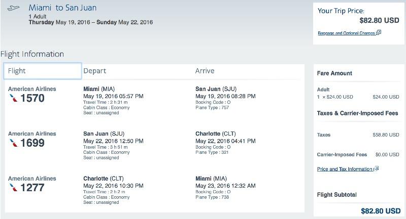 Miami to San Juan