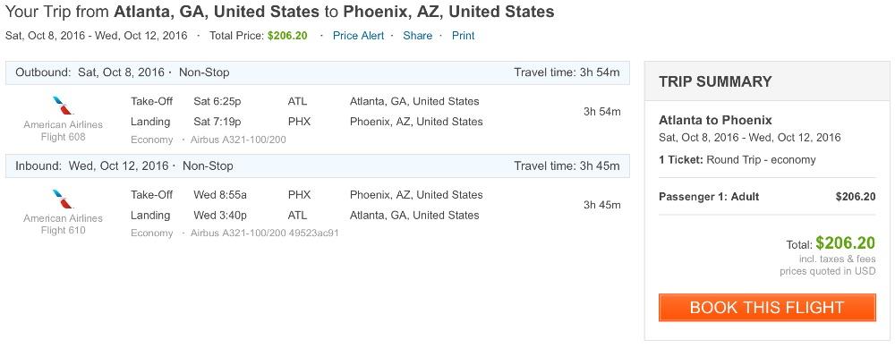 Atlanta to Phoenix