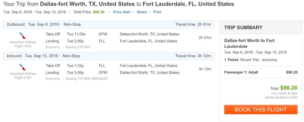 Dallas to Miami