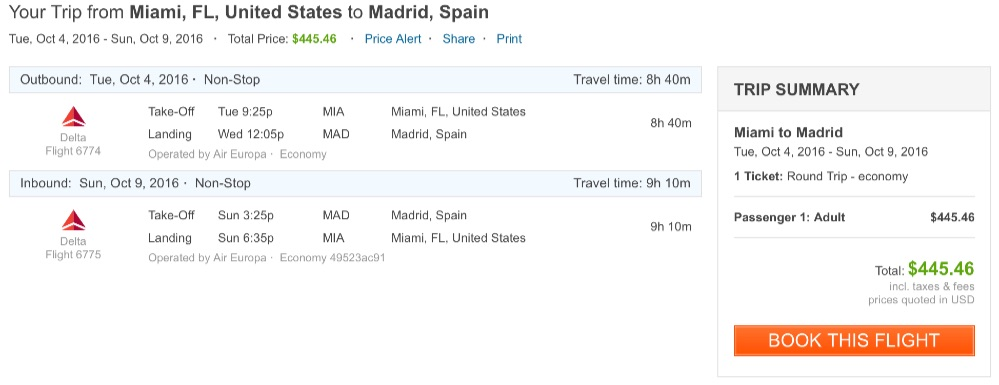 Miami to Madrid
