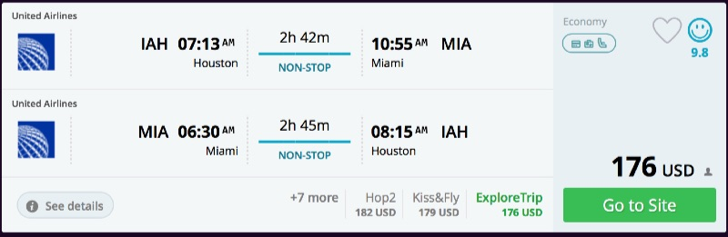 Houston to Miami