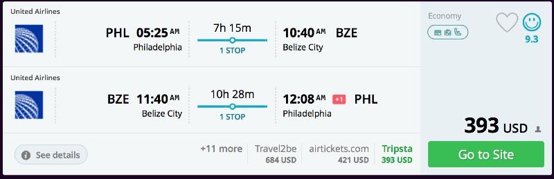 Philadelphia_to_Belize_City_flights_-_momondo