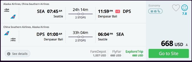 Seattle to Bali
