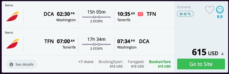 Washington_DC_to_Tenerife_flights_-_momondo