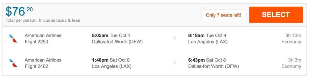 80__off_cheap_flights_from_Dallas-fort_Worth_to_Los_Angeles_-_FlightHub_com
