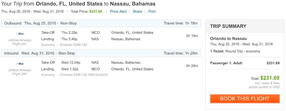 Orlando to Nassau