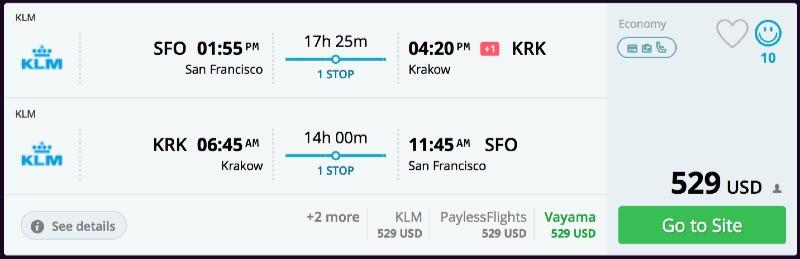 San_Francisco_to_Krakow_flights_-_momondo