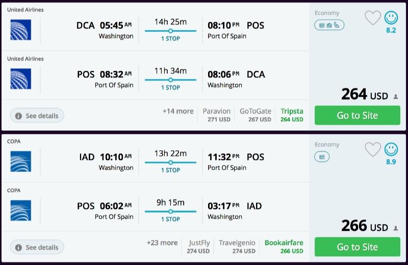Washington_DC_to_Port_Of_Spain_flights_-_momondo