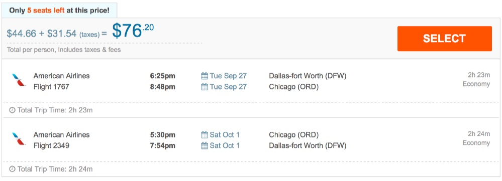 80__off_cheap_flights_from_Dallas-fort_Worth_to_Chicago_-_FlightHub_com