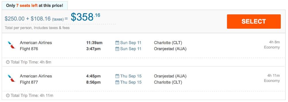 Charlotte_to_Oranjestad_-_FlightHub_com