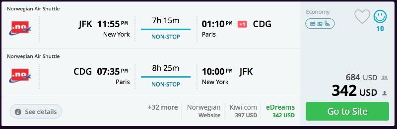 New york to paris flights momondo for New york to paris flights
