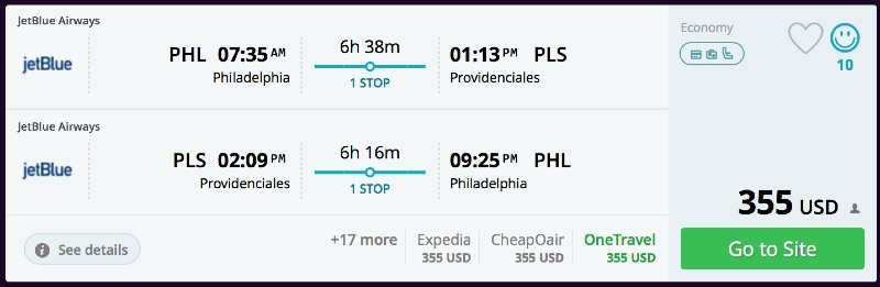 Philadelphia_to_Providenciales_flights_-_momondo