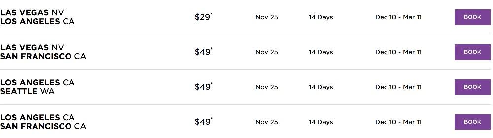 Virgin america deals coupons