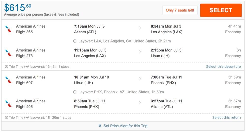 Atlanta To Hawaii Kona Or Kauai From 615 R T Aa