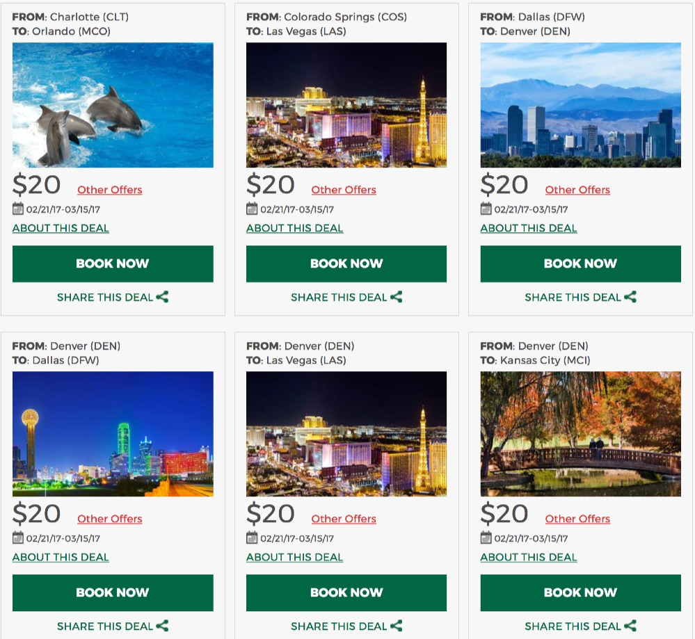 Buck Fares From Frontier Airlines 20 Incl Taxes And Fees