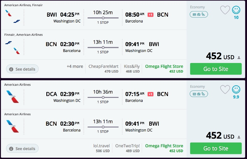 Dca slc flights from cheap to
