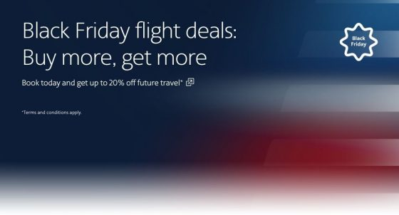 BLACK FRIDAY/CYBER MONDAY: American Airlines, get up to 20% off
